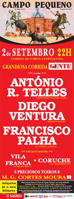 António Telles, Diego Ventura e Francisco Palha: Confronto de Estilos e Gerações