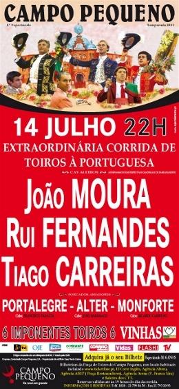 O Taurodromo.com  transmite hoje em direto a extraordinária corrida de toiros à portuguesa na praça do campo Pequeno