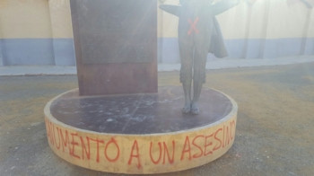 Estátua de Pepín Jiménez foi novamente vandalizada