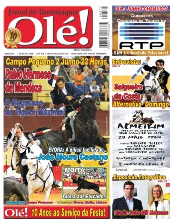 Capa do Olé edição 375 que estará amanhã nas Bancas