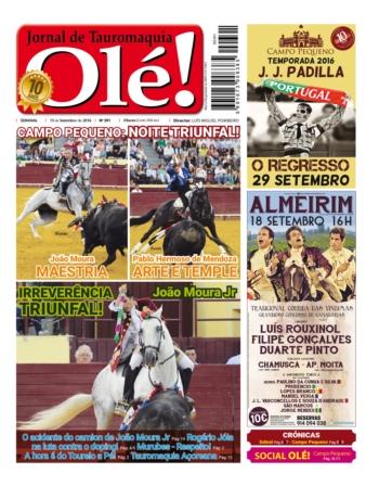 Jornal Olé 391, hoje nas bancas