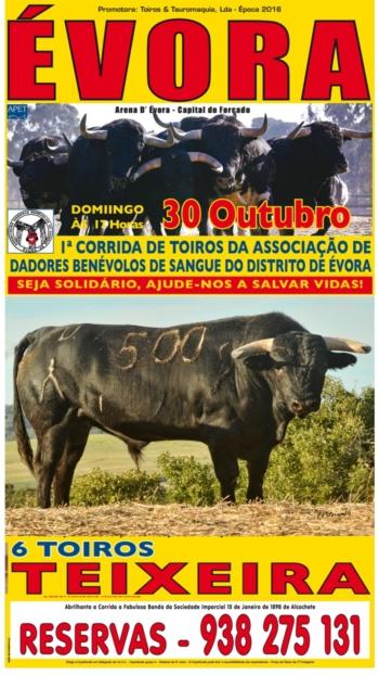 30 de Outubro há toiros em Évora