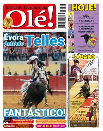 Edição 403 do Semanário Olé nas bancas amanhã quinta-feira dia 8 de Junho
