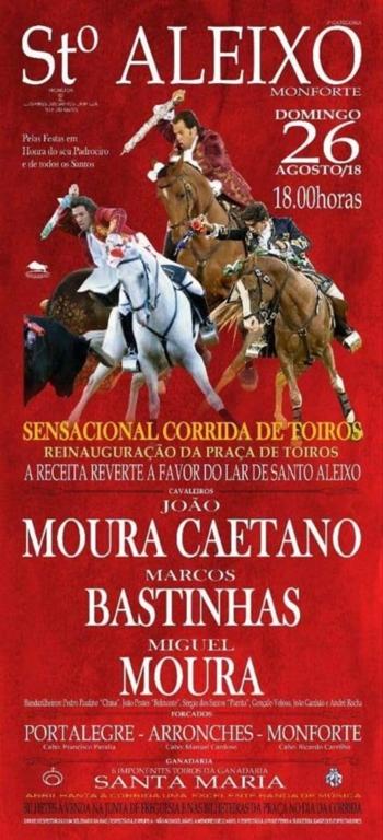Hoje reinaugura a Praça de Touros de Santo Aleixo