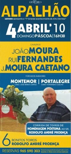 Homenagem a Rodolfo André Proença em Alpalhão no Domingo de Páscoa