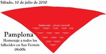 Pamplona presta homenagem ás vitimas de San Fermin