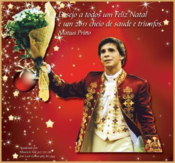 As Boas Festas do  cavaleiro praticante Mateus Prieto