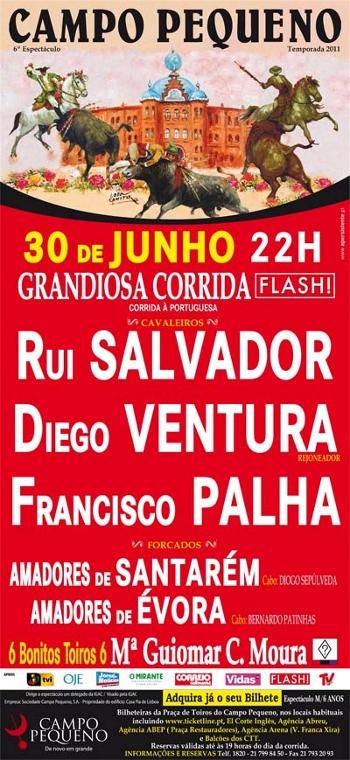 Corrida Flash no Campo pequeno hoje em directo aqui no taurodromo.com