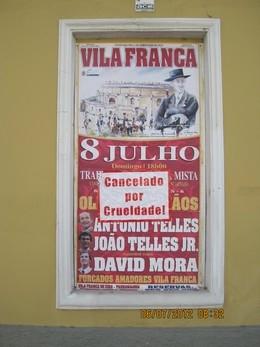 Anti-Taurinos vandalizam Vila Franca