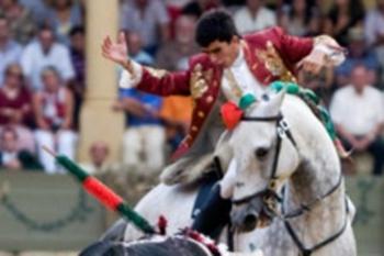 Cavaleiro João Moura filho em Espanha