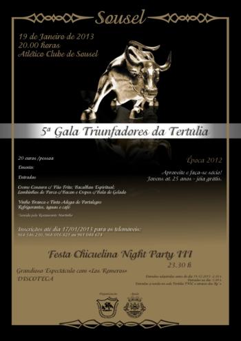V Gala e Entrega de Prémios da T.T. Nossa Senhora do Carmo de Sousel