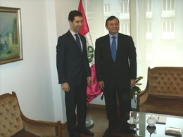 Pedrito recebido na embaixada do Peru em Portugal
