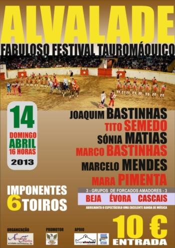 14 de Abril há Festival Taurino em Alvalade