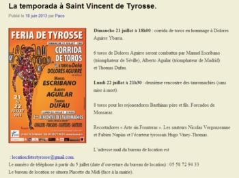 Cartel Português na Feria de Tyrosse (França)