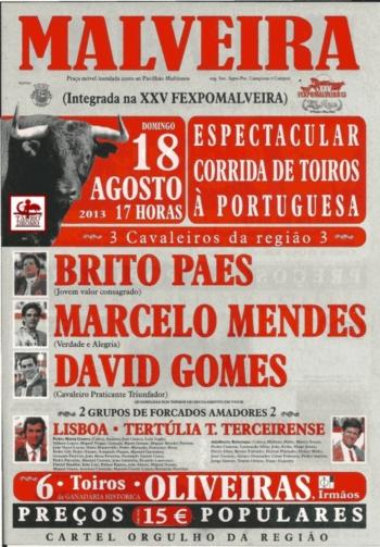 Cartaz da Corrida da Malveira, dia 18 de Agosto