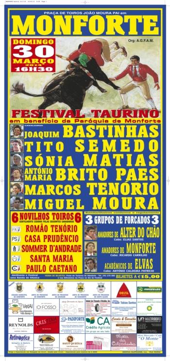 Festival Taurino em Monforte, dia 30 de Março