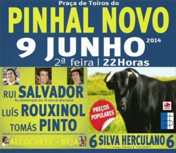 Cartaz da Corrida de dia 9 de Junho no Pinhal Novo
