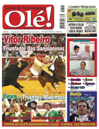 Capa do jornal Olé nº325 - Amanhã nas bancas - 3 Julho