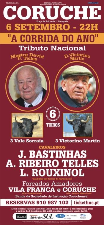 Tributo a David Ribeiro Telles e Victorino Martin em Coruche