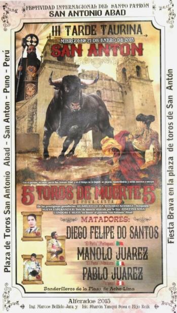 Diogo dos Santos na Feira de San Antón (Peru)