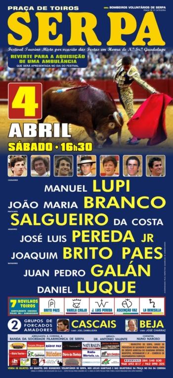 Em Serpa dia 4 de Abril entra Luque e sai Padilla do cartel