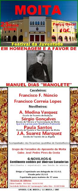 Sábado há Festival na Moita em homenagem a Manuel Dias - Manolete