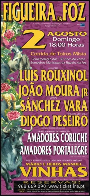 O Toureio a pé regressa à Figueira da Foz no próximo dia 2 de Agosto