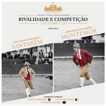 Amadores de Santarém e Montemor prometem, também, acesa competição, dia 3 no Campo Pequeno