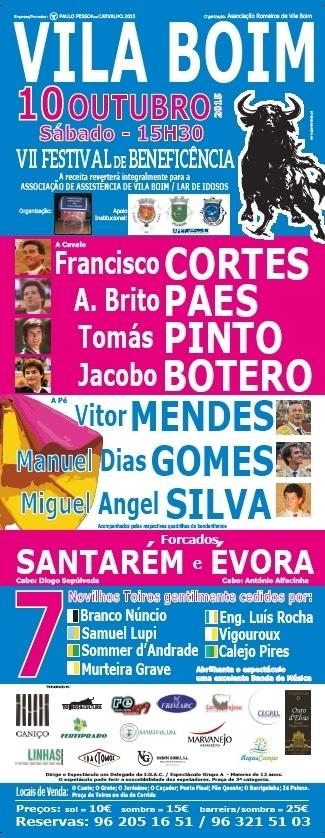 Toiros em Vila Boim- VII Festival de beneficiência