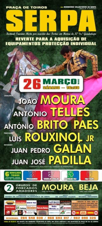 Cartaz do Festival de Serpa de 26 de Março