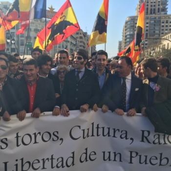Pedrito de Portugal na manifestação de Valência