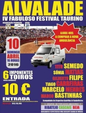 Cartaz do Festival de Alvalade do Sado a 10 de Abril