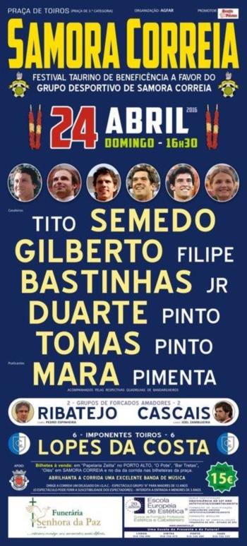 Cartaz de 24 de Abril em Samora Correia