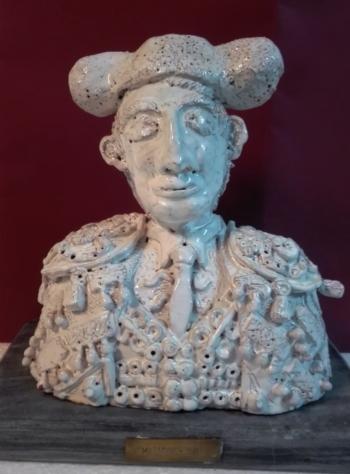Antonio Manuel Moraes expõe escultura taurina no Campo Pequeno