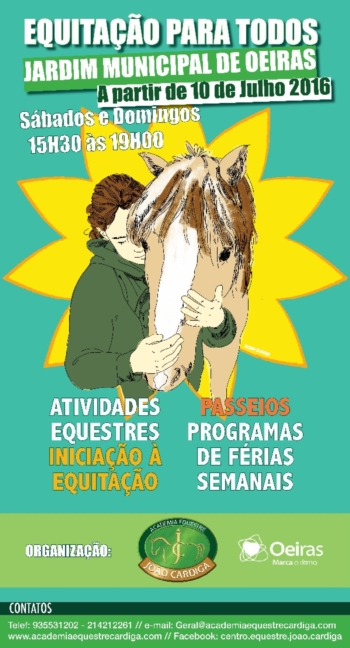 Equitação Para Todos no Jardim de Oeiras