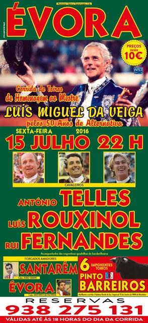 Luís Miguel da Veiga homenageado em Évora com corrida de toiros