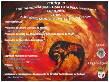 Colóquio Pró-Tauromaquia- uma luta pela Liberdade dia 14 de outubro em Azambuja