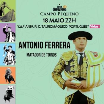 Triunfador de Sevilha Antonio Ferrera substitui Pablo Hermoso amanhã no Campo Pequeno