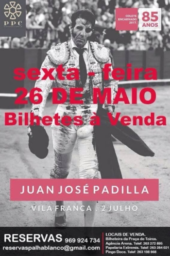 Bilhetes para Vila Franca à venda a partir de dia 26
