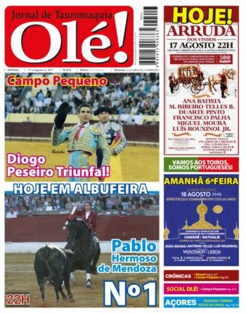 Jornal Olé! 413, hoje nas bancas
